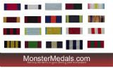 BRITISH CAMPAIGN MEDAL RIBBONS 1799-1914